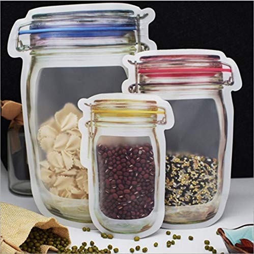 0855 Plastics Transparent Jar Shaped Stand-up Pouch With Zipper - Bulkysellers.com