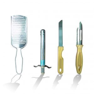 2030 4In1 Combo - Stainless Steel Kitchen Lighter, Knife, Peeler and Smooth Grater - Bulkysellers.com