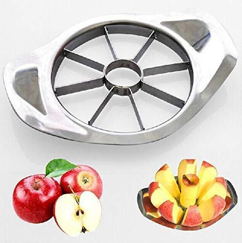 2140 Stainless Steel Apple Cutter Slicer with 8 Blades and Handle - Bulkysellers.com