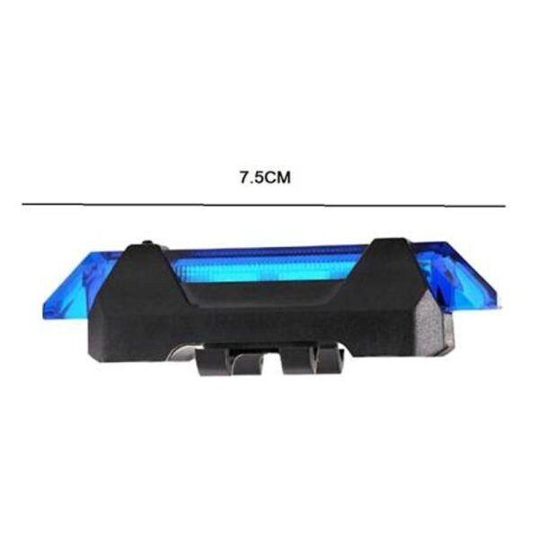 1617 Rechargeable Bicycle Front Waterproof LED Light (Blue) - DeoDap