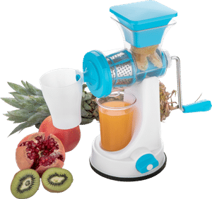 0168 Manual Fruit Vegetable Juicer with Juice Cup and Waste Collector - Bulkysellers.com