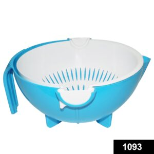 1093 Multi-Functional Washing Fruits and Vegetables Bowl & Strainer with Handle - Bulkysellers.com