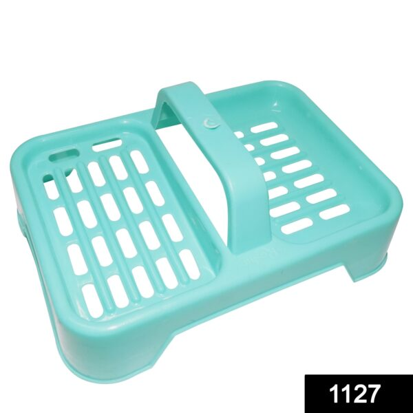 1127 2 in 1 Soap keeping Plastic Case for Bathroom use - DeoDap