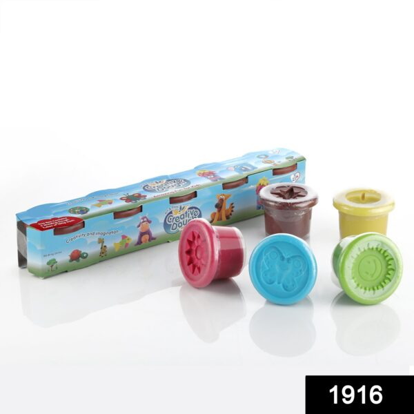 1916 Non-Toxic Creative 100 Dough Clay 5 Different Colors, (Pack of 5 Pcs) - DeoDap
