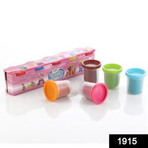 1915 Non-Toxic Creative 50 Dough Clay 5 Different Colors (Pack of 5 Pcs) - DeoDap