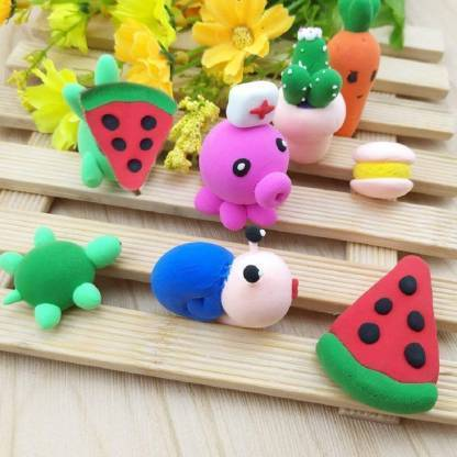 1918 Non-Toxic Creative 50 Dough Clay Mould 5 Different Colors, (Pack of 6 Pcs) - DeoDap
