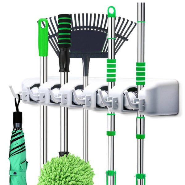 0199 5-Layer Multipurpose Wall Mounted Organizer Mop And Broom Holder - Bulkysellers.com