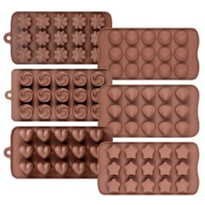 0742_Silicon Chocolate Molds, Candy Making Silicone Molds, Mini Baking Molds (Random Design 1 unit) - Bulkysellers.com