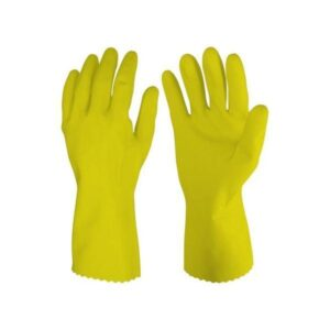 0657 - Cut Glove Reusable Rubber Hand Gloves (Natural) - 1 pc - Bulkysellers.com