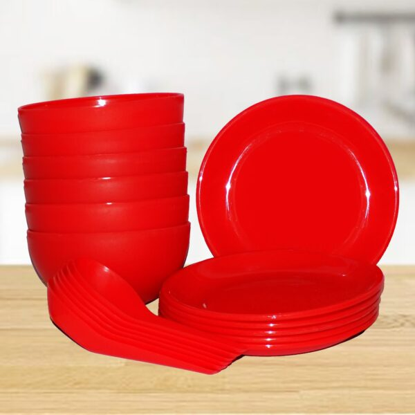 2183 Soup Bowl Set with Spoon and Saucer - 18 pcs - Bulkysellers.com
