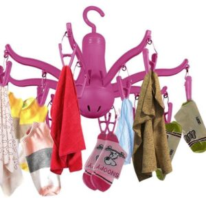 0229 -8-Claw Octopus Hanging Dryer 16 Clothes pegs, Simple to fold up and Put Away - Bulkysellers.com