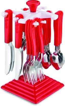 0175 24 Piece Stainless Steel Premium Cutlery Set With Stand - Bulkysellers.com