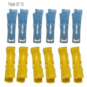 0332 Multipurpose Plastic Clothes Pegs / Hanging Clips / Cloth Drying Clips - 12 pcs (Round) - Bulkysellers.com