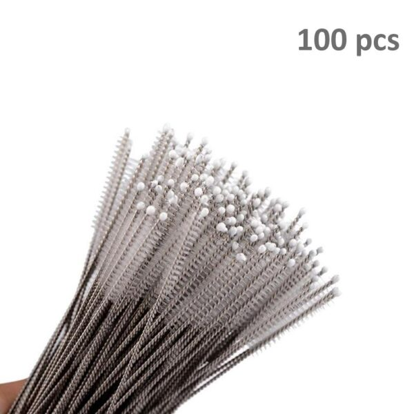 0578 Stainless Steel Straw Cleaning Brush Drinking Pipe, 23mm 1 pcs - Bulkysellers.com