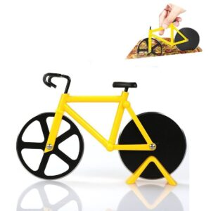 0649 stainless steel Bicycle shape Pizza cutter - Bulkysellers.com
