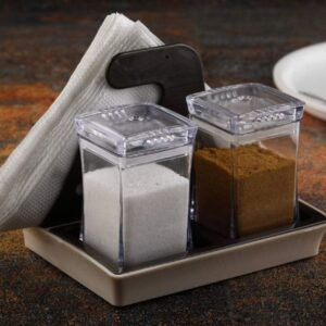 0120 Salt and Pepper Set with Tissue Holder Kitchen Dining Table - Bulkysellers.com