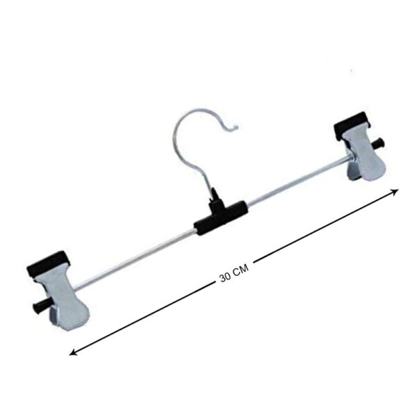 7202 Hangers with 2-Adjustable Anti-Rust Clips (Pack of 12) - DeoDap