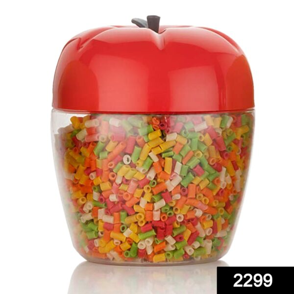 2299 Jar/Container with Apple Shape for Kitchen Storage (1500ML) - DeoDap