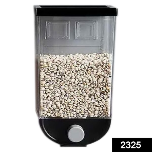 2325 Wall Mounted Cereal Dispenser Tank Grain Dry Food Container (1500ML) (Multicolour) - DeoDap