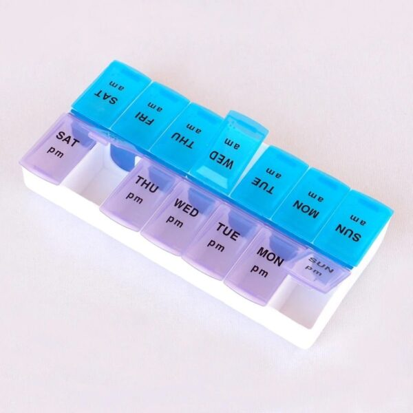 0397 Tablet Pill Organizer Box With Snap Lids - Bulkysellers.com