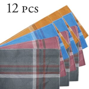 1532 Men's King Size Formal Handkerchiefs for Office Use - Pack of 12 - Bulkysellers.com