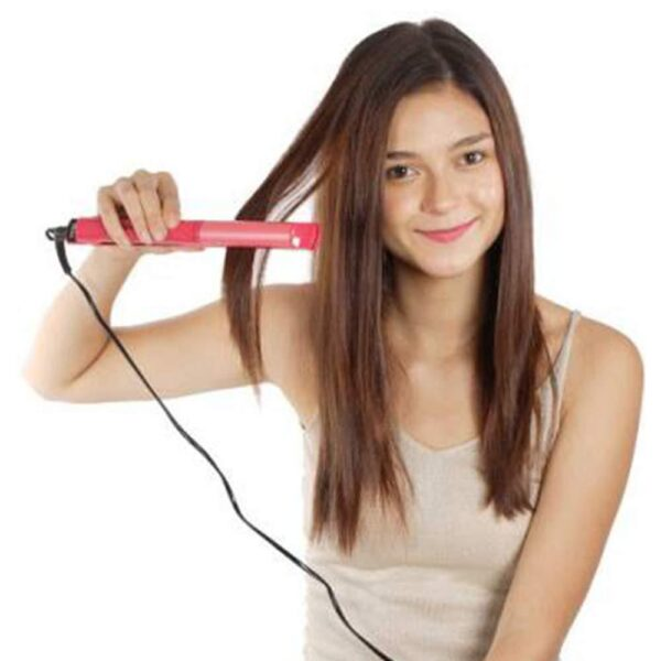 0385 2 in 1 Hair Straightener and Curler Machine For Women | Curl & Straight Hair Iron - Bulkysellers.com