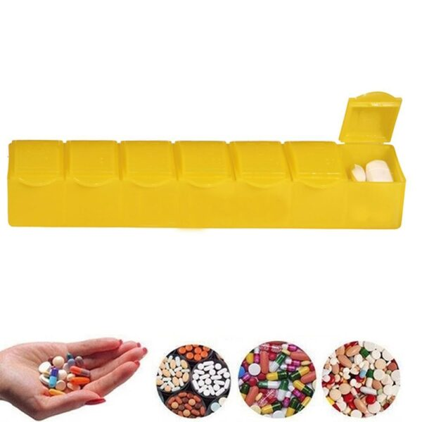 0347 -7 Days Pill Box with 7 Compartments - Bulkysellers.com