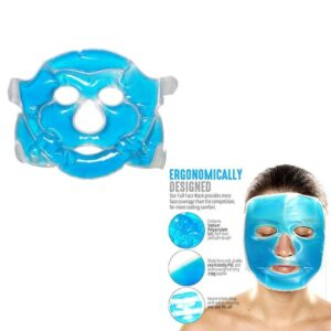 0380 Reusable Cooling Gel Face Mask with Strap-on Velcro, Medium - Bulkysellers.com