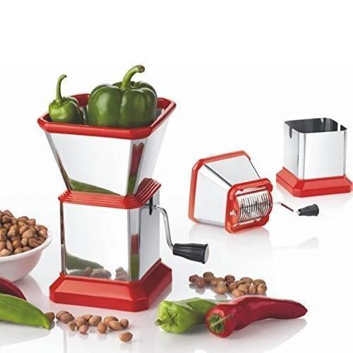 0084 Stainless Steel Vegetable Cutter Chopper (Chilly Cutter) - Bulkysellers.com