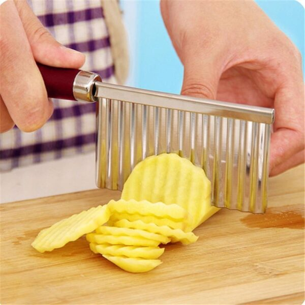 2007_Crinkle Cut Knife Potato Chip Cutter With Wavy Blade French Fry Cutter - Bulkysellers.com
