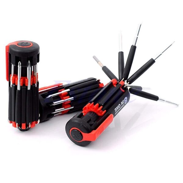 0427 08 in 1 Multi-Function Screwdriver Kit with LED Portable Torch - Bulkysellers.com