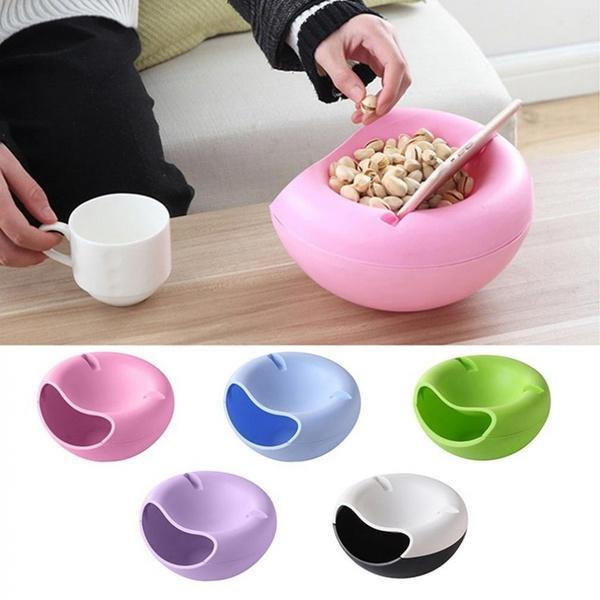 0250 Pista Nut Fruit Platter Serving Bowl With Mobile Phone Holder by HomeFast - Bulkysellers.com