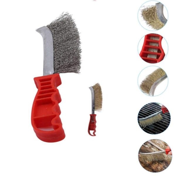 1568 Stainless Steel Wire Hand Brush Metal Cleaner Rust Paint Removing Tool - Bulkysellers.com
