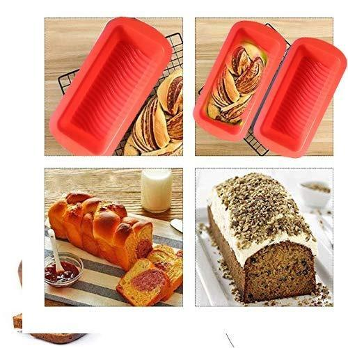 0772 Silicone Square Baking Loaf Mould Tray - Bulkysellers.com