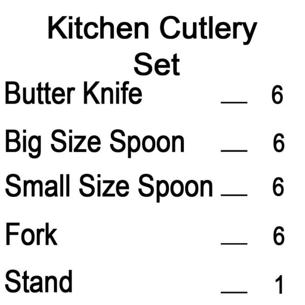 7007 Stainless Steel Stylish Cutlery Set with Spoons, Forks, Butter Knives for Stylish Dining (Set of 24 Pcs) - DeoDap