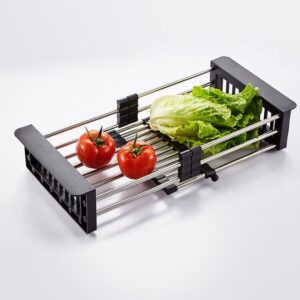 2189 Stainless Steel Expandable Kitchen Sink Dish Drainer - Bulkysellers.com