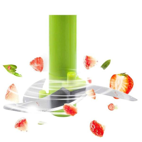 0079 Manual 2 in 1 Handy smart chopper for Vegetable Fruits Nuts Onions Chopper Blender Mixer Food Processor - Bulkysellers.com