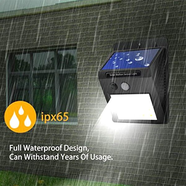 0213 Solar Security LED Night Light for Home Outdoor/Garden Wall (Black) (20-LED Lights) - Bulkysellers.com