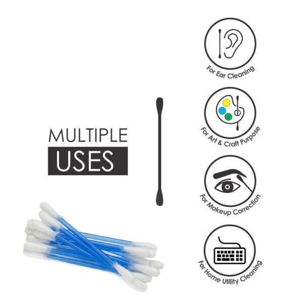 0337 Hygeinic, Soft and Gentle Cotton Buds (100pcs, 200 Swabs) - Bulkysellers.com