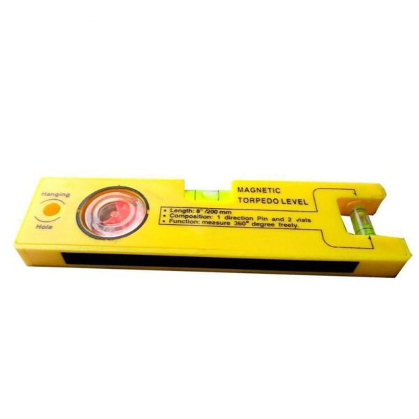0429 8-inch Magnetic Torpedo Level with 1 Direction Pin, 2 Vials and 360 Degree View - Bulkysellers.com