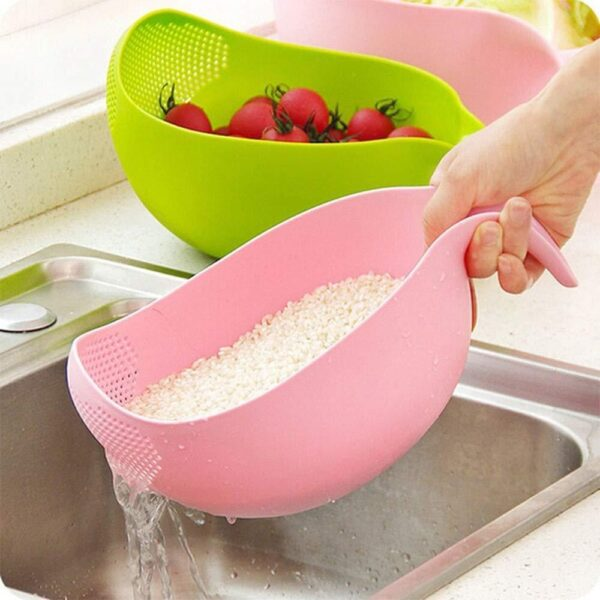 0156 Rice Bowl Thick Drain Basket with Handle - Bulkysellers.com