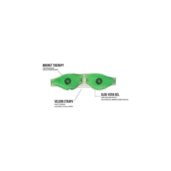 0403 Cold Eye Mask with Stick-on Straps (Green) - Bulkysellers.com