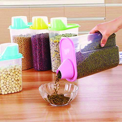 0603 Cereal Storage Container With Measuring Cup For Kitchen Storage (3 units) - Bulkysellers.com