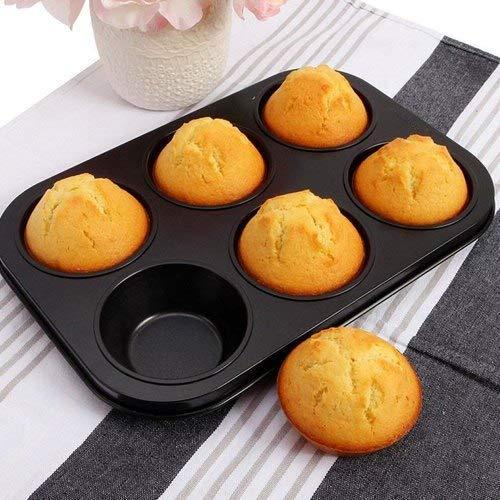 2210 Non-Stick Reusable Cupcake Baking Slot Tray for 6 Muffin Cup - Bulkysellers.com