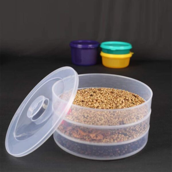 0093 Plastic 3 Compartment Sprout Maker, White - Bulkysellers.com
