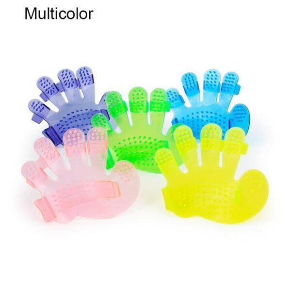 0172 Rubber Pet Cleaning Massaging Grooming Glove Brush - Bulkysellers.com