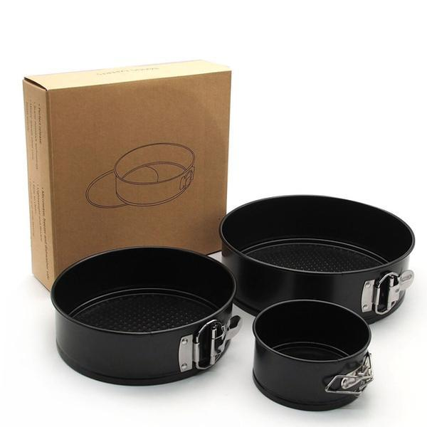 2305 Metal Moulds for Baking Non-Stick Cake Tins (Pack of 3) - DeoDap