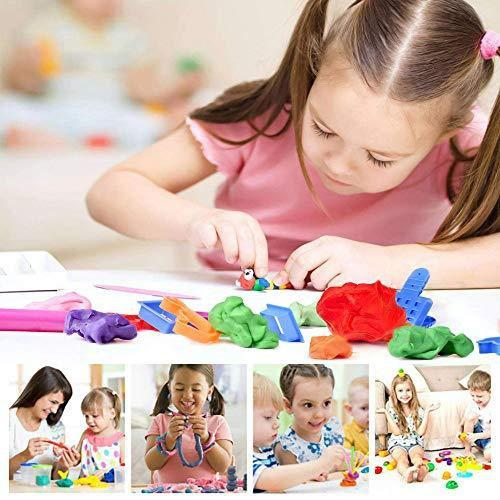 1917 Non-Toxic Creative 30 Dough Clay 5 Different Colors, (Pack of 6 Pcs) - DeoDap