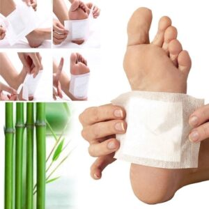 0644 kinoki Cleansing Detox Foot Pads, Ginger & salt Foot Patch -10pcs (Free Size, White) - Bulkysellers.com