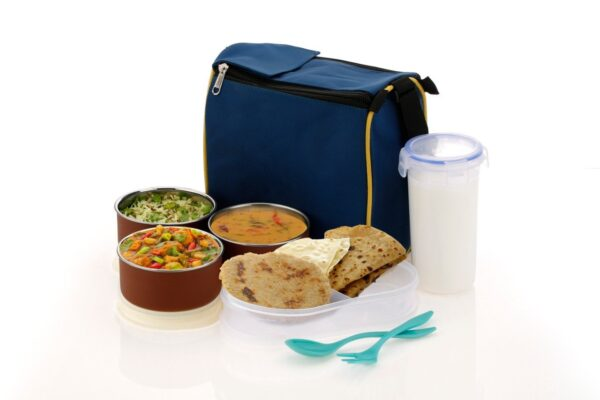 2111 Microwave Safe Stainless Steel Small Square Lunch Box Containers - Bulkysellers.com